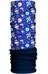 HAD Fleece sjaal blauw/bont
